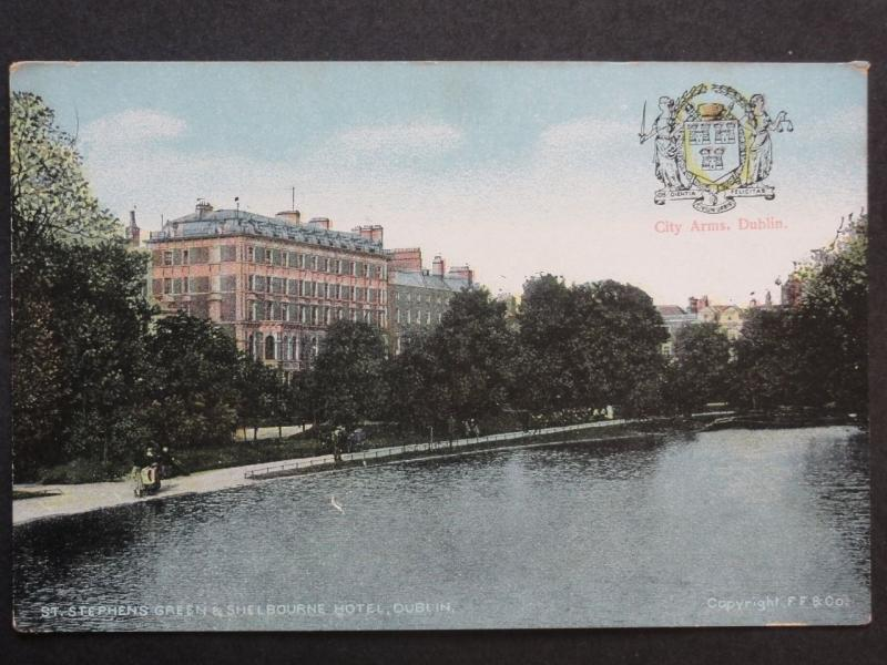 Ireland DUBLIN Sherbourne Hotel & St. Stephens Green Old PC by Chas L Reis & Co
