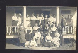 RPPC KINGSLEY IOWA 1924 BRUCE HOYT FAMILY VINTAGE REAL PHOTO POSTCARD