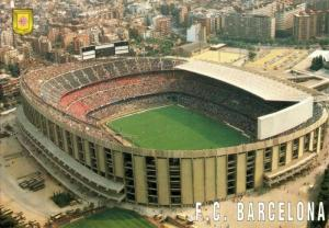 spain, BARCELONA, Estadio Nou Camp (1980s) Stadium Postcard (3)