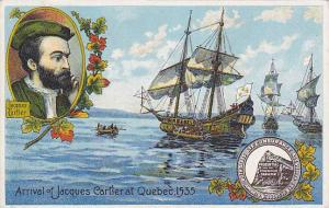 Arrival of Jacques Cartier at Quebec 1535, Prudential Insurance ADV postcard ...