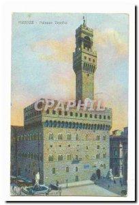 Italy Italia Firenze Old Postcard Palazzo Vecchio