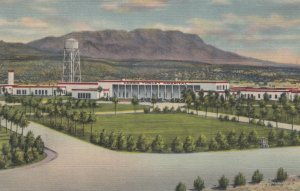HOT SPRINGS, New Mexico, 1930-40s; Carrie Tingley Hospital and Caballo Mountains