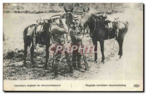 Postcard Old English Army in recognition Cavaliers (horses horse horse)