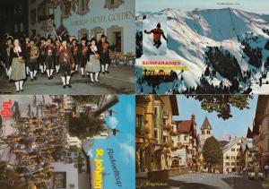 Kitzbuhel Bicycle Cycle Race Skiing Street Dancers 4x Austria Postcard s