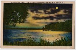 Moonlight on Seneca Lake, Geneva NY
