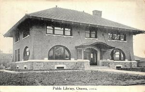 Onawa Iowa~Carnegie Public Library~ Prairie School Architecture~Clay Tile 1911