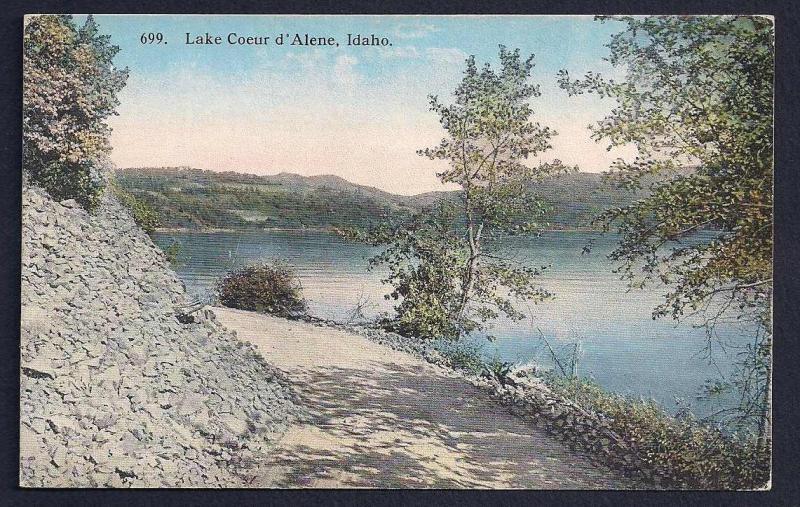 Lake Coeur D'Alene Idaho unused c1910's