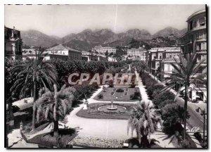 Postcard Moderne Menton Public Garden