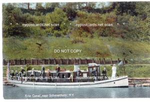 Erie Canal near Schenectady NY, Packet Boat