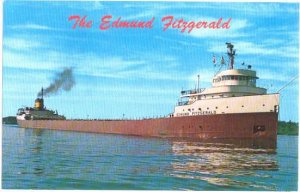 The Edmund Fitzgerald, Ore Carrier Steamer, Sank in 1975, Chrome