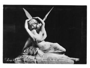 Italy Cupid Psyche Sculpture Villa Carlotta Lago Como Glossy Photo 4X6 Postcard