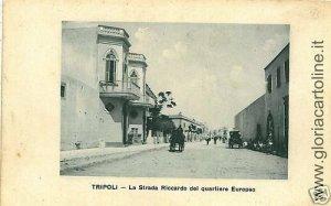 02315   CARTOLINA d'Epoca:  LIBIA : TRIPOLI: QUARTIERE EUROPEO