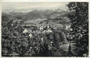 Germany Immenstadt panorama real photo postcard