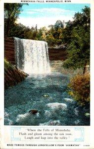 Minnesota Minneapolis Minnehaha Falls 1931 Curteich