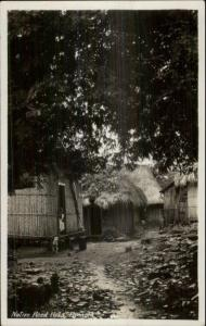 Panama - Native Reed Huts c1920s Real Photo Postcard