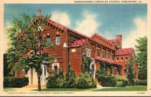 Louisiana Shreveport Kingshighway Christian Church 1938 Curteich