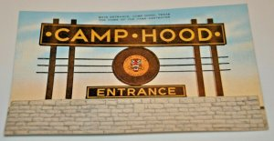 WWII WW2 1940s Camp Hood Main Entrance Texas Home Tank Destroyer Fort Army USA
