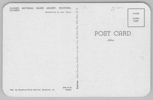 Rockford Illinois~National Guard Armory~Flagpole~Mailbox~1960s