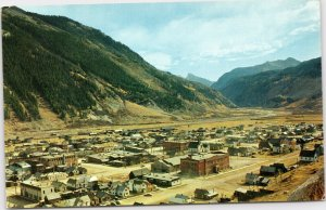 postcard Colorado - bird's eye view of Silverton