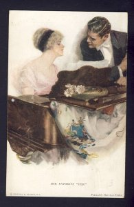 HER FAVORITE HIM #769 R&N romance woman piano man,  HARRISON FISHER artist