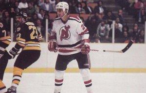 NHL ; New Jersey Devils Ice Hockey Player , Greg Adams , 1985/1986