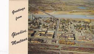 Bird's eye view of Glendive,  Montana,   40-60s