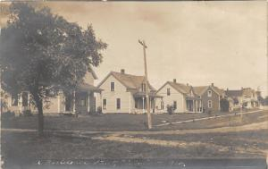 Plainview Nebraska~A Residential Street~Note about House on Corner~1908 RPPC