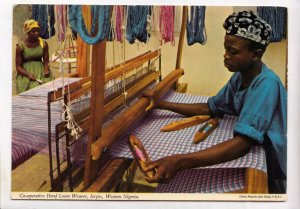 Co-operative Hand Loom Weaver, Iseyin, Western Nigeria, used Postcard