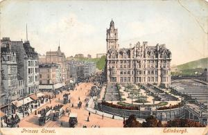 Scotland Edinburgh Princes Street, Tramways Trams 1908