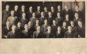 RPPC Marietta, Ohio Loar & Co College Men Students c1910s Vintage Photo Postcard