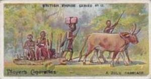 Player Vintage Cigarette Card British Empire Series No 17 Zulu Carriage   1904