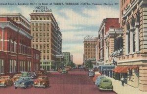 TAMPA , Florida, 1930-40s ; Street Scene at Tampa Terrace Hotel