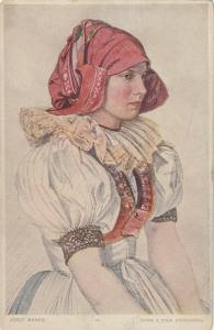 MORAVIA , Czech Republic , 00-10s ; Girl from OLOMOUC County in Slovak Costume