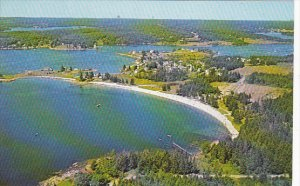 Aerial View Pemaquid Beach Maine