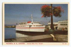 Postcard American Motor Ferry Chinook Victoria B. C. Canada Standard View Card