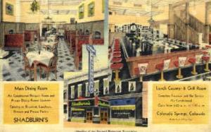Shadburn's - Linen Colorado Springs, CO, USA Postcard Post Cards Old Vintage ...
