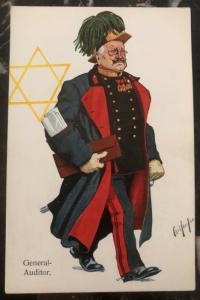 1938 Germany Mint Postcard Eternal Jew Museum Exhibit The General Auditor