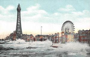 Blackpool Rough Sea Promenade Tour Tower Big Wheel