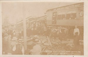 RP: COEUR D'ALENE , Idaho , 1908 ; Head On Railroad Train Accident