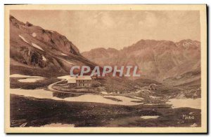 Old Postcard Alpine Road Pass Cayolle and Refuge