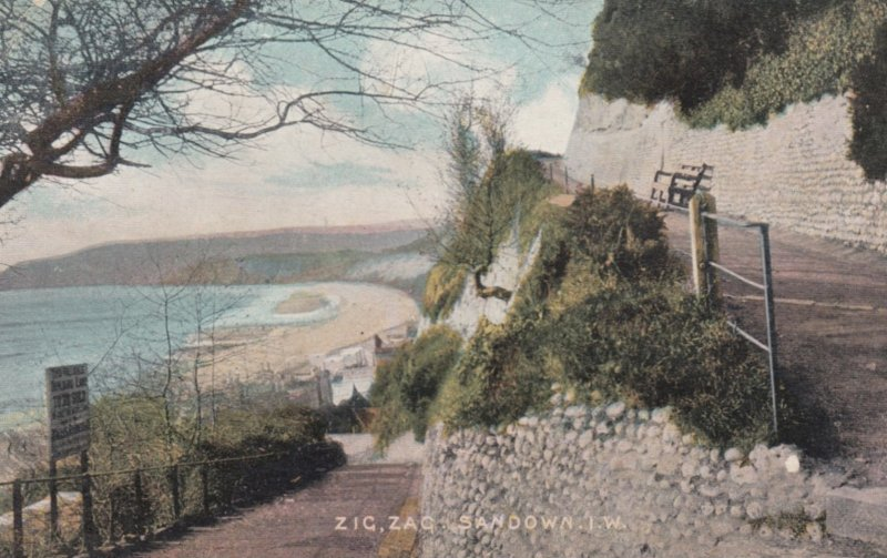 SANDOWN, Isle Of Wight, England, PU-1905 ; Zig-Zag