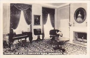 Kentucky Bardstown Parlor Of My Old Kentucky Home Real Photo RPPC
