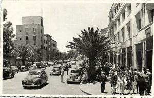 eritrea, ASMARA, Street Scene, Old Cars (1963) RPPC Postcard