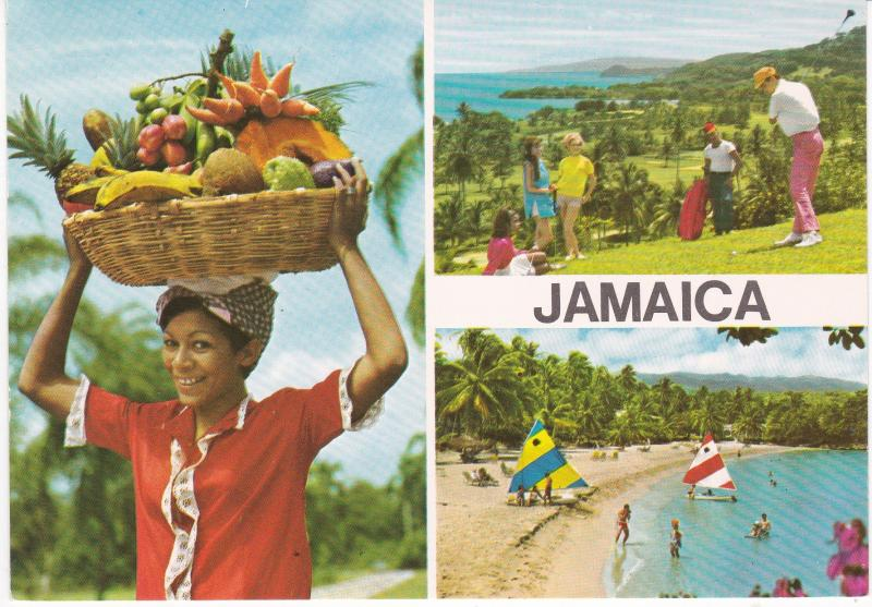 Postcard Jamaica 3 views