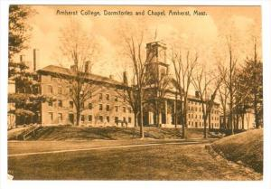 Exterior,  Amherst College,  Dormitories and Chapel,  Amherst,  Massachusetts...
