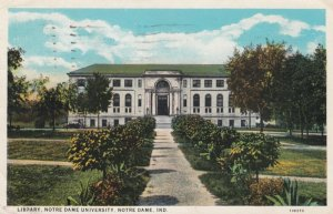 NOTRE DAME , Indiana , 1931 ; Library , Notre Dame University