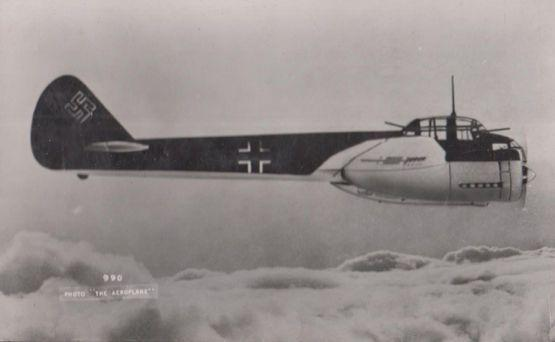 Junkers Ju 88 German Luftwaffe WW2 Aircraft Vintage Plain Back Postcard Photo