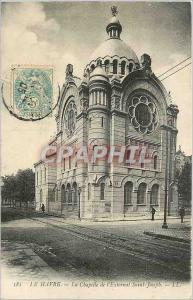 Old Postcard Le Havre The Chapel of Saint Joseph Externat