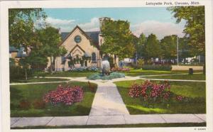 Michigan Owosso Scene In Lafayette Park 1948 Curteich