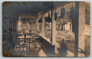Colorado Springs CO~Back Porch & Lawn Furniture~1923 RPPC